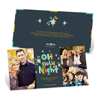 Holy Night Photo Christmas Cards