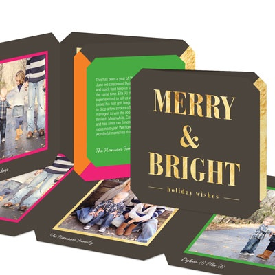 Triangles And Squares Holiday Photo Cards