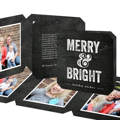 Chalkboard Squares Photo Christmas Cards