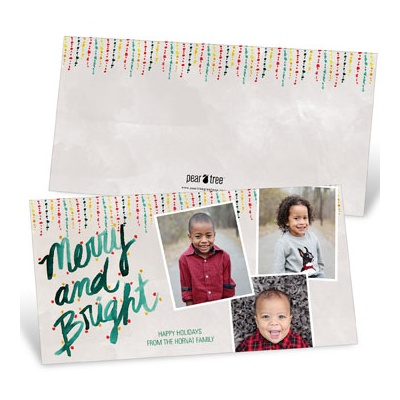 Icicle Lights Galore Photo Christmas Cards