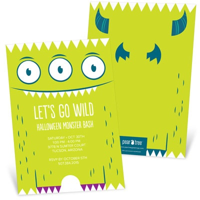 Googly Eyed Monster Halloween Invitations