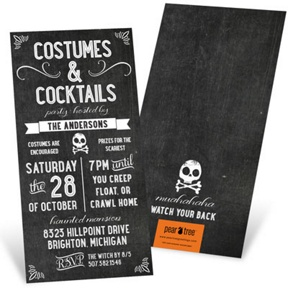 Chalk Art -- Halloween Invitations