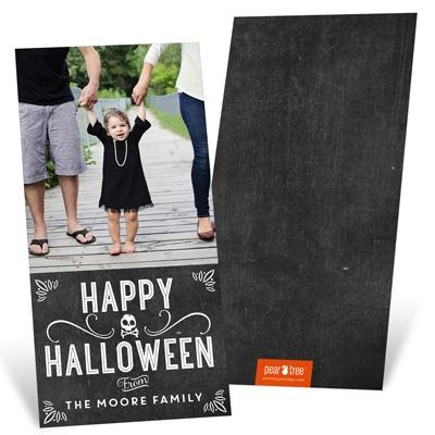 Chalk Art Halloween Photo Cards