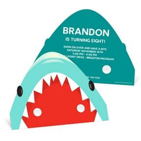 Shark Mask -- Kids Birthday Invitations