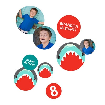 Shark Party Table Decor Kids Party Decorations