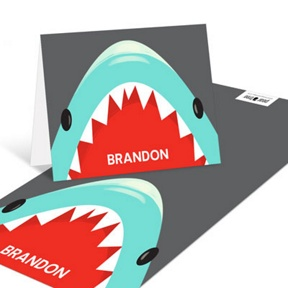 Shark Party -- Kids Thank You Cards