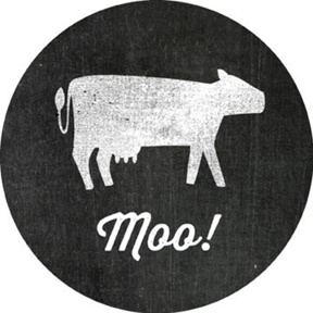 Li'l Farmer Moo Stickers -- Kids Birthday Favor Tags