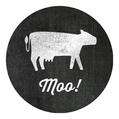 Li'l Farmer Moo Stickers Kids Birthday Favor Tags
