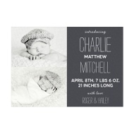 Photo Paper Double Take Baby Boy Announcements
