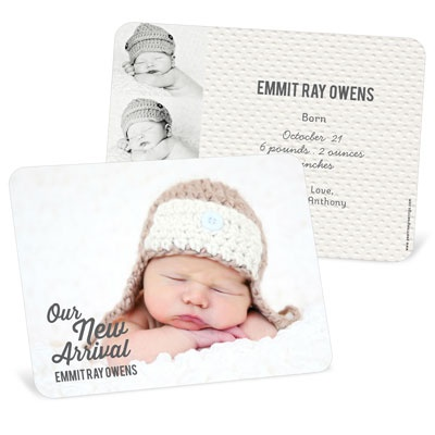 New Arrival Boy Birth Announcements