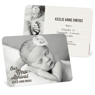New Arrival Girl Birth Announcements