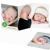 Boy Monogram Dots Baby Thank You Cards