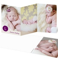 Girl Monogram Dots Baby Thank You Cards