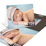 Taped Photo Baby Thank You Cards