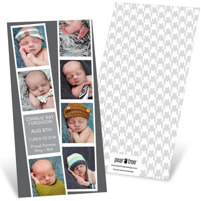 Photo Booth Strips Baby Boy Announcements