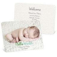 Hello World Baby Boy Announcements