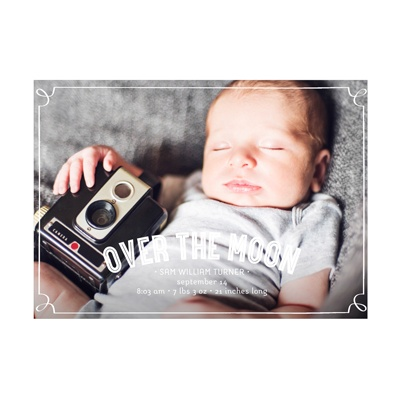 Photo Paper Frames Baby Boy Announcements