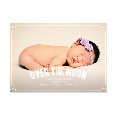 Photo Paper Frames Girl Birth Announcements
