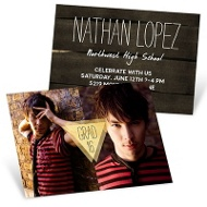 Good As Gold Mini Graduation Announcements