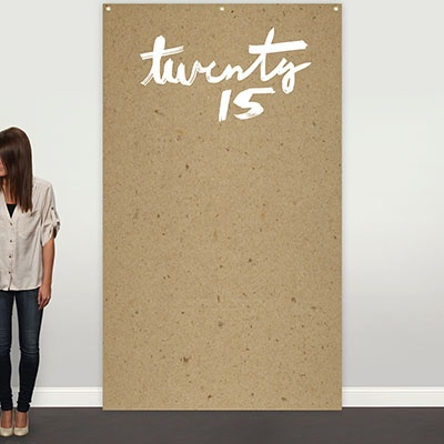Kraft Paper Look Photo Backdrop Graduation Party Decorations