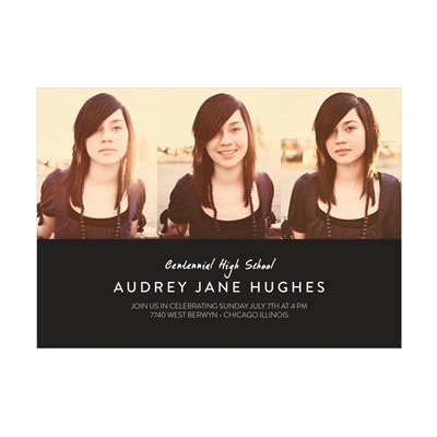 Photo Paper Lineup For Her Graduation Announcements
