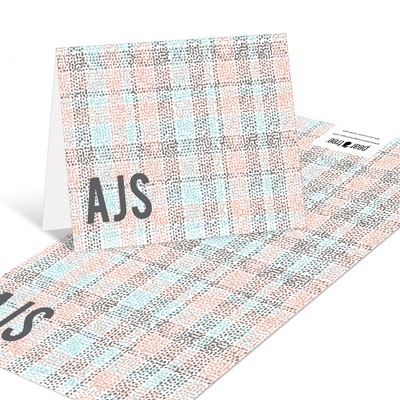 Colored Plaid Thank You Cards