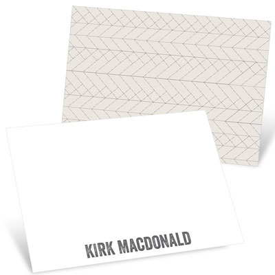 Herringbone Sketch Thank You Cards