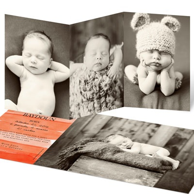 Triple The Fun Birth Announcements