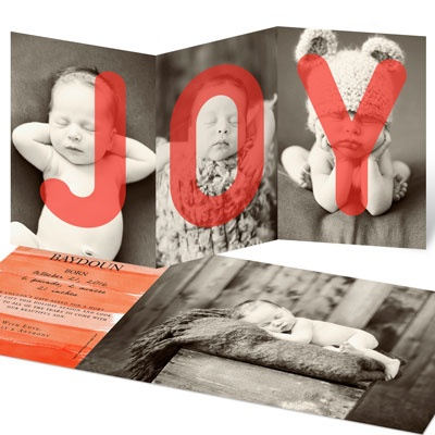 Joyful Holiday Birth Birth Announcements