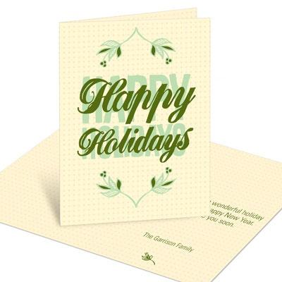 Mistletoe Greeting Christmas Cards