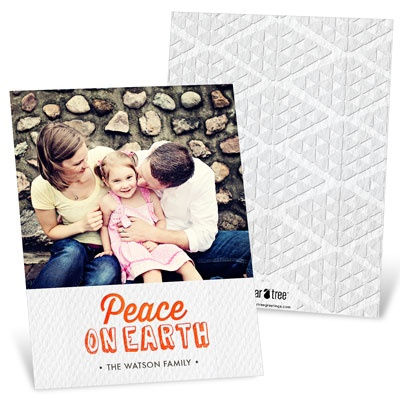 Happiest Holidays Diamond Back Religious Christmas Cards