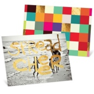 Golden Greeting Christmas Cards