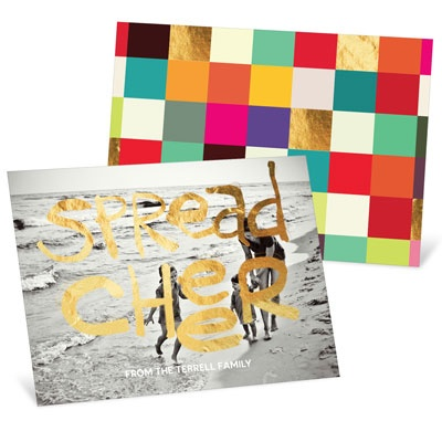 Golden Greeting Holiday Photo Cards