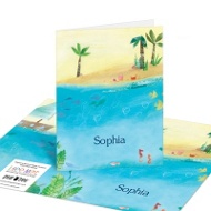 Birthday By The Sea Kids Thank You Cards