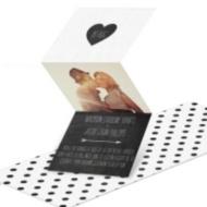 Luxe Linen Look Wedding Invitation
