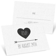 Linen Look Wedding Response Cards