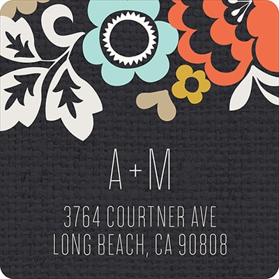 Fall Bouquet Wedding Address Labels