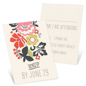 Spring Bouquet -- Wedding Response Cards