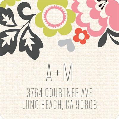 Spring Bouquet Wedding Address Labels