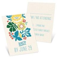 Summer Bouquet Wedding Response Cards