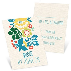 Summer Bouquet -- Wedding Response Cards