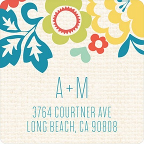 Summer Bouquet -- Wedding Address Labels