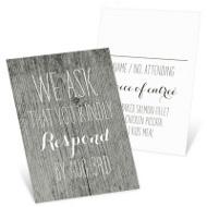 Rustic Wedding Wedding Response Cards