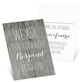 Rustic Wedding -- Wedding Response Cards
