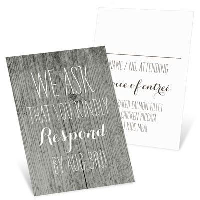 Rustic Wedding Wedding Response Cards