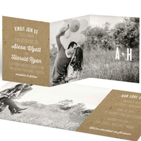 Kraft Love -- Wedding Invitations