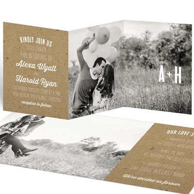 Kraft Love Wedding Invitations