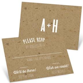 Kraft Love -- Wedding Response Cards