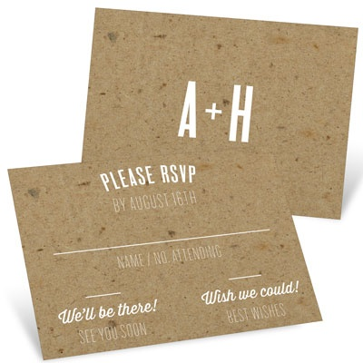 Kraft Love Wedding Response Cards