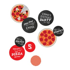 Pizza Party Table Decor -- Kids Birthday Decorations